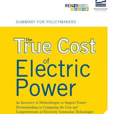 El verdadero costo de la energía eléctrica