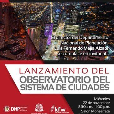 Lanzamiento del Observatorio del Sistema de Ciudades