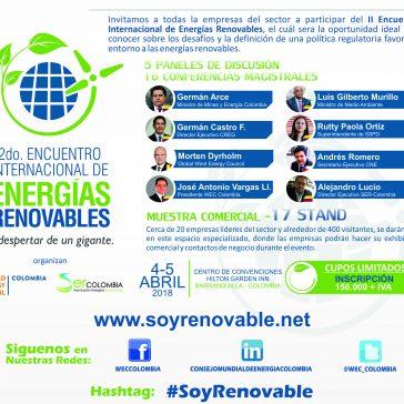 II Encuentro Internacional de Energías Renovables – 2018