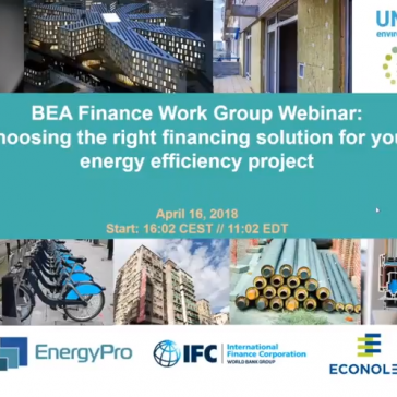 Webinar: Choosing the right financing solution for your energy efficiency project